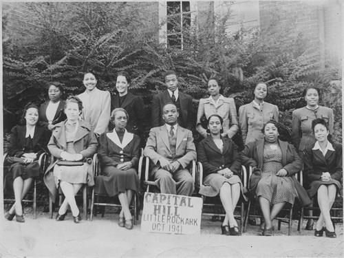 Capitol Hill Faculty 1941 Mary Bush Arthur elementary school teacher (1st row seated-third from Left). Source: Ancestry.com