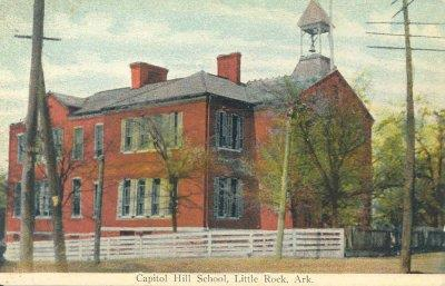 Postcard of Capitol Hill School. Photo courtesy of Ray Hanley. Source: LRSD archives.