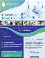 Schoology Town Hall Flyer