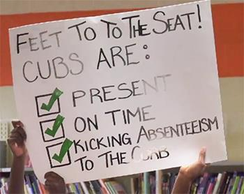 Feet to the seat cubs are present on time kick absenteeism to the curb